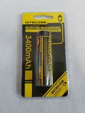 Nitecore NL1834R 18650 3400mAh Protected with Built In Micro-USB Charging Port