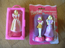 Tara Toy Inc. Barbie Figurine Stampers 1998 no. 30297 and 1996 no. 30285 Mattel