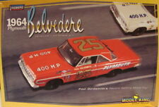 Lindberg #11254 1964 Plymouth Belvedere Stock Car paul Goldsmith model kit 1/25