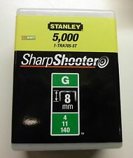 Stanley 1-tra705-5t Clips Type G 8mm - (5000 Piece) Staplers