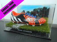 ✺Signed✺ BRAD JOHNSON Football Boot PROOF COA Western Bulldogs 2020 Jumper AFL