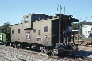 Railroad Slide - Burlington Route #10117 Caboose 1980 Westmont IL Vintage BN
