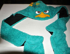 Phineas and Ferb Agent P Plush Hat - Earmuff Scarf Gloves Kids Teens and Adult-