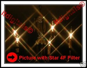 55mm Rotating Star 4F Lens Filter Four point Flares 4PT Special Light Effects