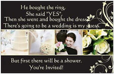 25 Wedding Shower INVITATIONS Post Cards LG POSTCARDS