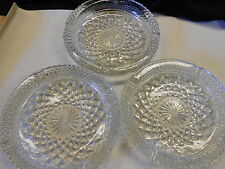 "3 Vintage Anchor Hocking ""Wexford"" Ashtrays or Trinket Holders FREE SHIP IN US"