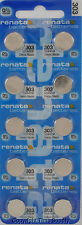 10 pc 303 Swiss Renata Watch Batteries SR44SW SR44 0% MERCURY
