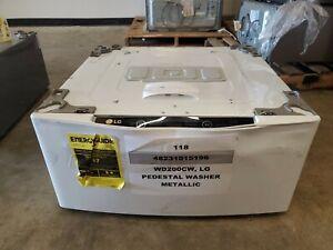 NEW Scratch/Dent LG SideKick 1.0cu ft Pedestal Washer WHITE WD200CW-BB