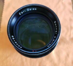 Vintage Contax Carl Zeiss Sonnar 135mm f/2.8 T* Lens MMJ C/Y Mount SLR Camera