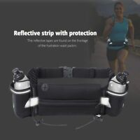 Running Belt Exercise Waist Hydration Running Belt with 2 BPA Free Water Bottles