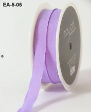 1/2 Inch Solid Wrinkled Ribbon - May Arts - EA05 - Lavender - 5 yds.