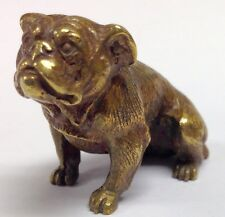 Antique Bronze Bulldog Miniature Vienna Resolute!
