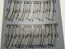 Lego® 3241 Eisenbahn Schienen 12V gebogen aus 7725 7727 7730 7735 7740 7745 7855