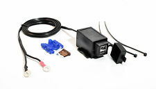 USB 12v DOBLE ENCHUFE PARA MOTO USB Cargador 2a/1a Protección inyección Agua