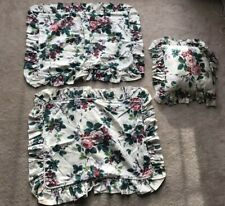 2 Waverly Pillow Shams Ruffled Floral Pleasant Valley Pillowcases & Small Pillow
