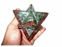 "Jet Lovely Big Genuine Green Jade Mica Mix Orgone Merkaba 4"" Huge Large Crystal"