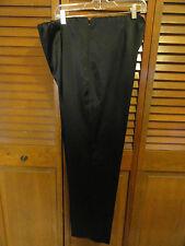 Susan Garver style, black satin dress pants, size XL, elastic waist
