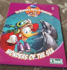 DISNEY THE WONDERFUL WORLD OF KNOWLEDGE 5 - WONDERS OF THE SEA BOOK