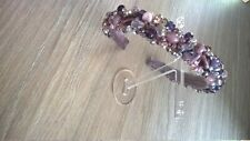 Gorgeous handmade embellished headband (Alice band) purple/ violet mix
