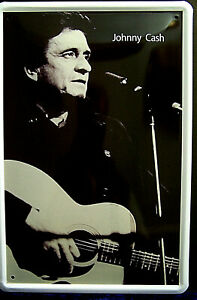 Johnny Cash King of Country 4 5/16in x 3 1/8in Tin Sign