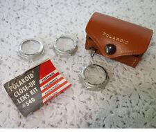 Polaroid Leather Case, Tape Measure, 3 Lenses, and Literature