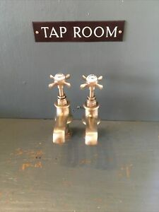 Refurbished Rudge & Co Brass Basin Taps Ready To Fit  L6
