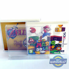 10 x Nintendo 3DS Game Box Protectors 0.4mm PET Plastic Display Case Fits Sealed