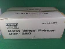 New Tandy DWP 220 Daisy Wheel Printer 1980s Vintage
