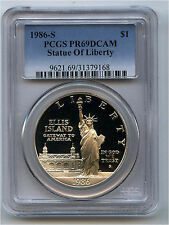 1986-S Statue of Liberty Centennial Silver $1 Commemorative PCGS PR 69 DCAM