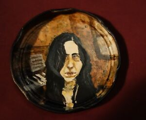 LAURA NYRO, Jam Jar Lid Portrait, Singer/Songwriter, Outsider Folk Art PETER ORR