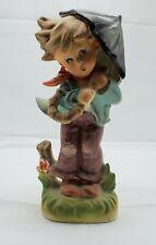 Rossini Japanese Hummel LIKE Figurines Boy with Umbrella
