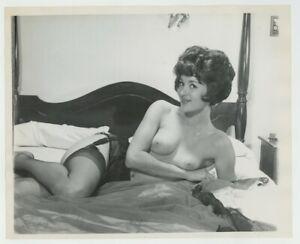 Gorgeous Bouffant Hair Brunette 1960 Parliament 8x10 Legs Stockings Garter J7422