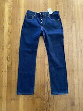 NWT LEVI'S Mens 501xx Straight Leg Button Fly Dark Denim Jeans Pants 32x32
