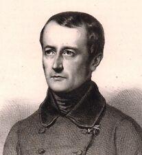 Portrait XIXe Paul Delaroche Peintre Peinture Lithographie 1839