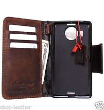 genuine vintage leather for lumia 950xl Case book wallet handmade cover magnet