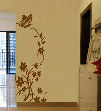 Hand Carving Vine Flower Butterfly Wall Stickers Decal Vinyl Decor UK RUI218