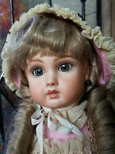 """Antique French Repro Doll Artist Patty O A.19 Steiner Paris 19"""" All Bisque"""