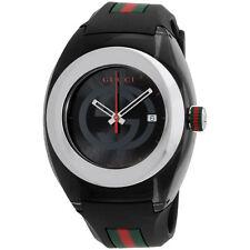 Gucci Sync XXL Black Rubber Black Dial Watch YA137101
