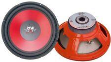 Pyle Plw15rd 38.1cm rojo etiquetas woofer