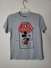 Disney Unisex Girls Boys Mickey Mouse T Shirt Size Large 10-12 Gray