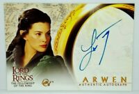 Lord of The Rings Fellowship Ring LOTR FOTR Liv Tyler Arwen Autograph Auto Card