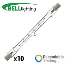10x 400w = 500w 118mm Energy Saving Linear Tungsten Halogen(Bell 03846) R7s