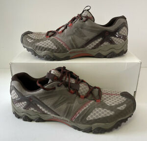 Mens Merrell Shoes J24721 Grassbow Air Hiking Shoes Dark Taupe Red Size 14