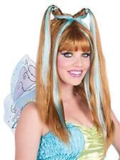 Aqua Fairy Wig, Cosplay Halloween Dress-Up Blonde Ninja Adult OSFM  Ladies - NEW
