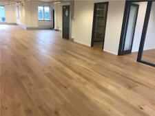 18mm Oak Engineered Flooring Real Oak Wood 5mm Veneer 150mm Wide Brushed Oiled