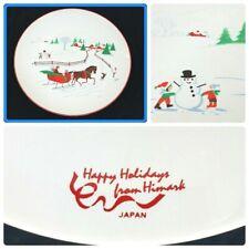 "Himark Saltera Christmas Holiday Cake Stand Porcelain Japan Sleigh Vintage 10"""