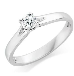 White Gold, Round Engagement Ring