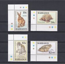 TIMBRE STAMP 4 ILE BARBADES Y&T#407-11 FAUNE ANIMAL NEUF**/MNH-MINT 1989 ~A71