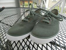 Ked's woman's olive green canvas sneakers tennis shoes