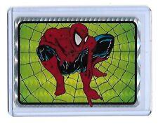 SPIDER-MAN Crouching  - 1990s Vending  Prism Sticker Marvel  Card